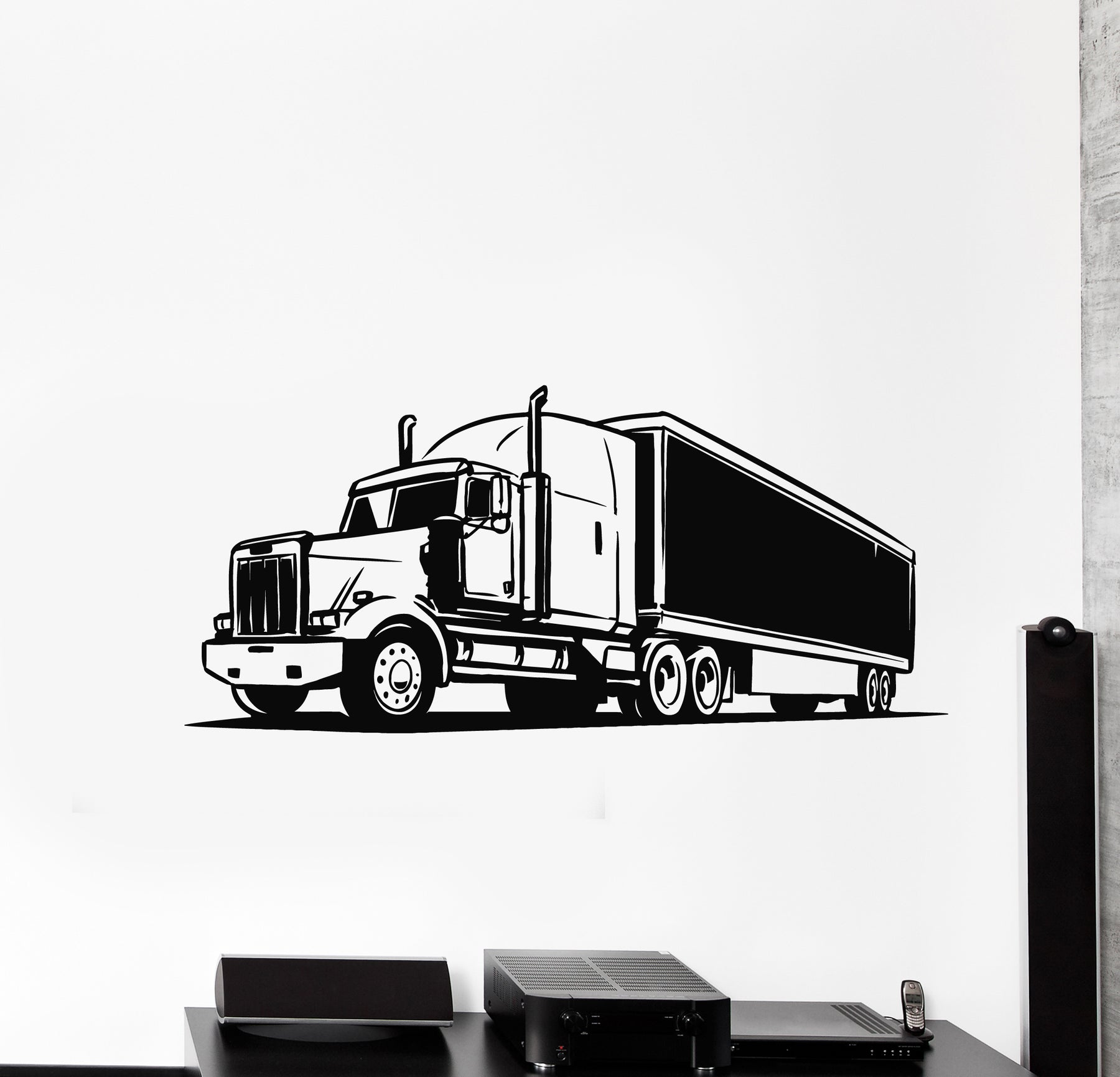 Vinyl Wall Decal Truck Car Transport Decor For Man Decor Stickers Mural (g664)