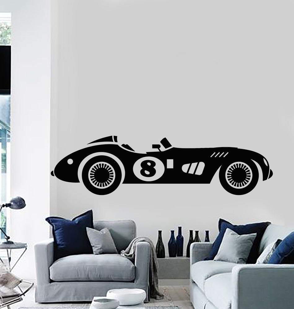 Vinyl Wall Decal Racing Retro Car Fast Muscle Auto Real Racers Stickers Mural (g481)