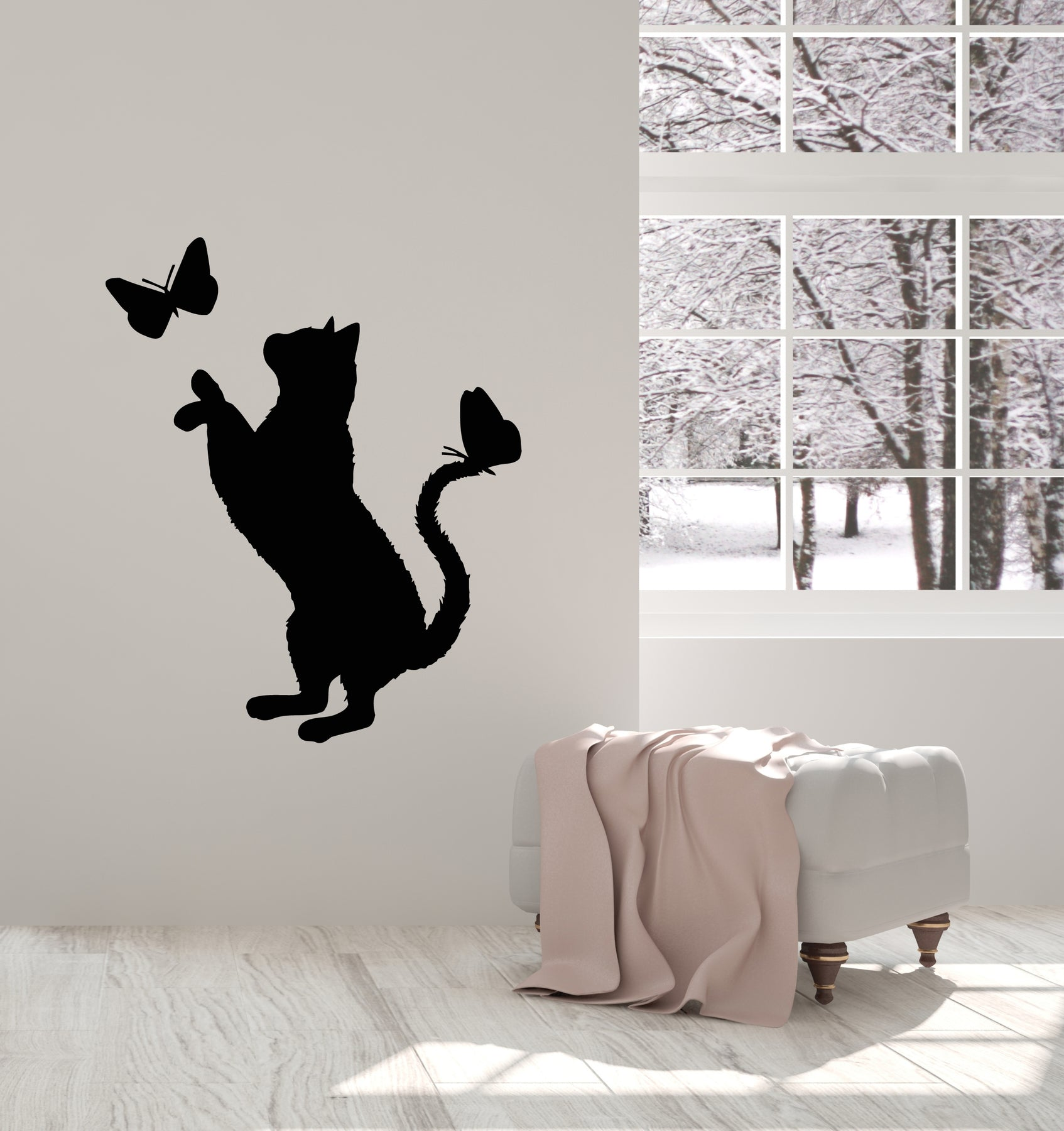 Tree Branch Cat Wall Decal Sticker WS-17134