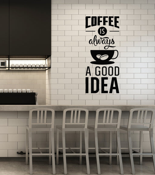 quotes and words wall vinyl decals tagged coffee shop decor