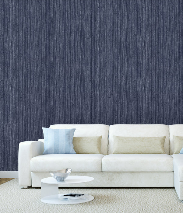 Dark Blue Abstract Rain Pattern Multicolored Wallpaper Reusable Removable Accent Wall Interior Art (wal046)