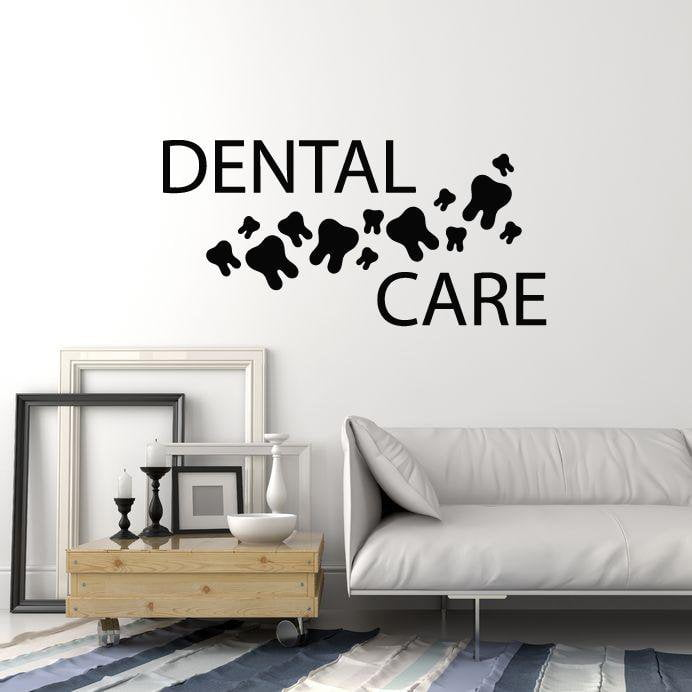 Dental Care Vinyl Wall Decal Healthy Teeth Dentist Clinic Art Decor Stickers Mural (ig5300)