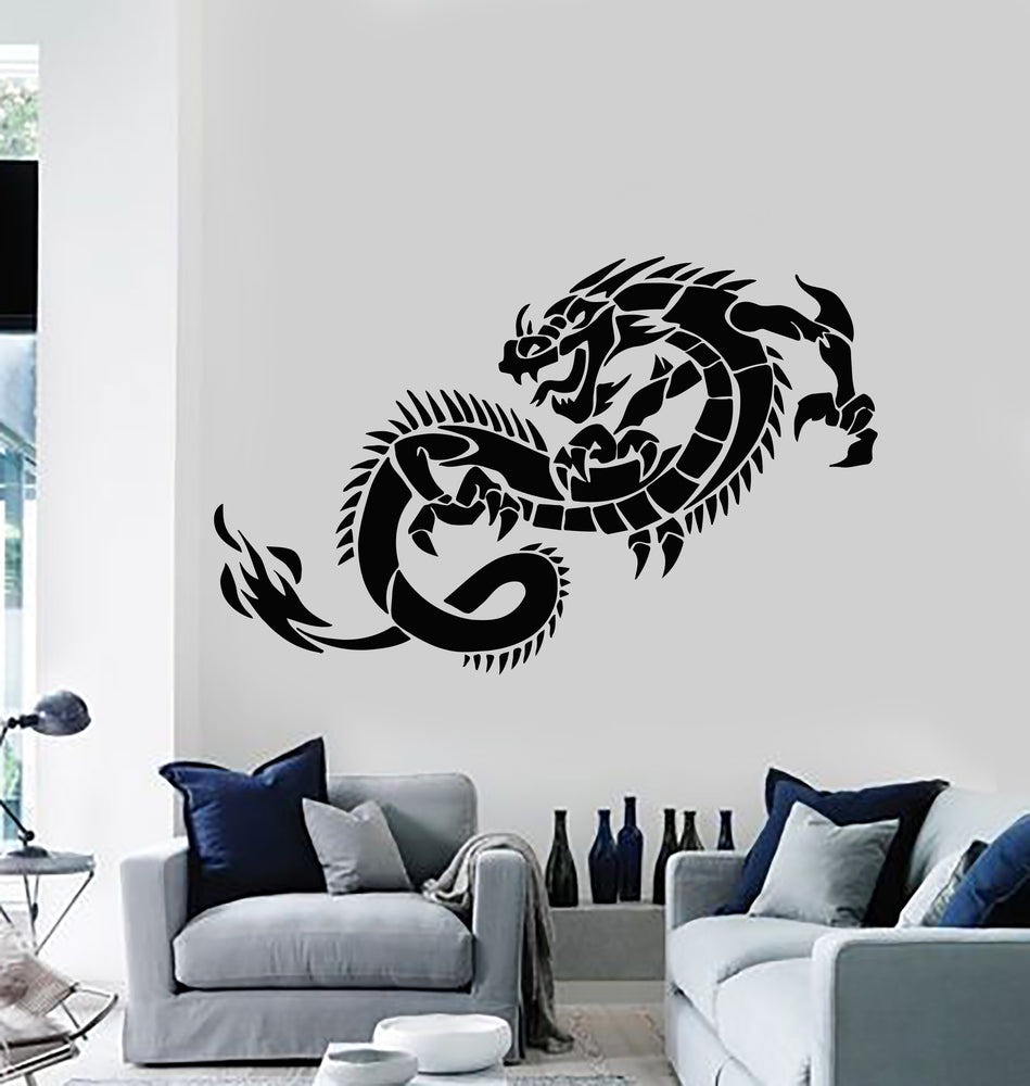 Vinyl Wall Decal Fantasy Fairytale Animal Myth Dragon Monsters Stickers Mural (g2630)