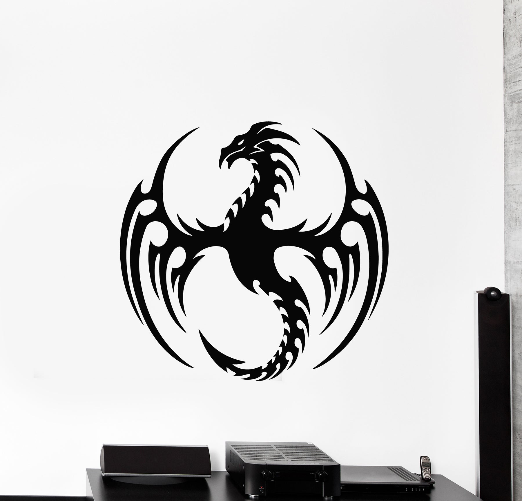 Vinyl Wall Decal Dragon Fire Fantasy Myth Animal Child Room Art Stickers Mural (g837)