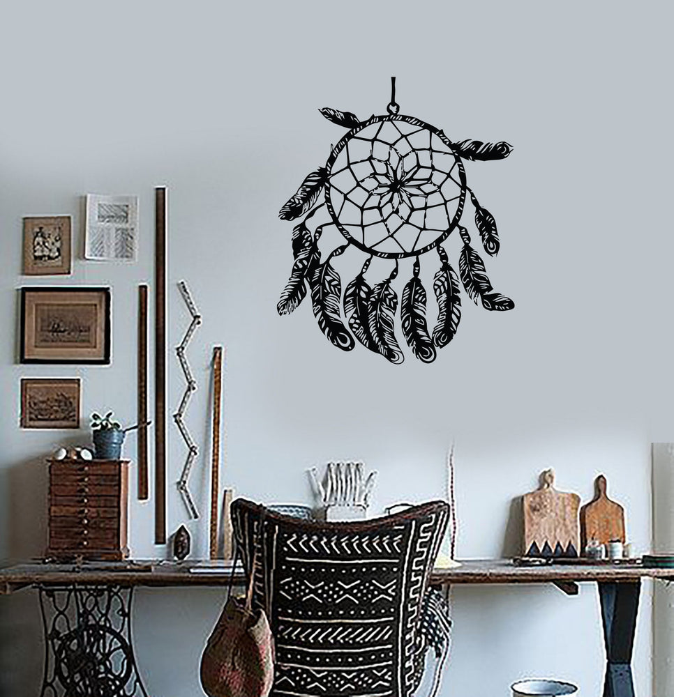 Wall Decal Plumage Krishna Dreamcatcher India Mahatma Vinyl Stickers Unique Gift (ed038)