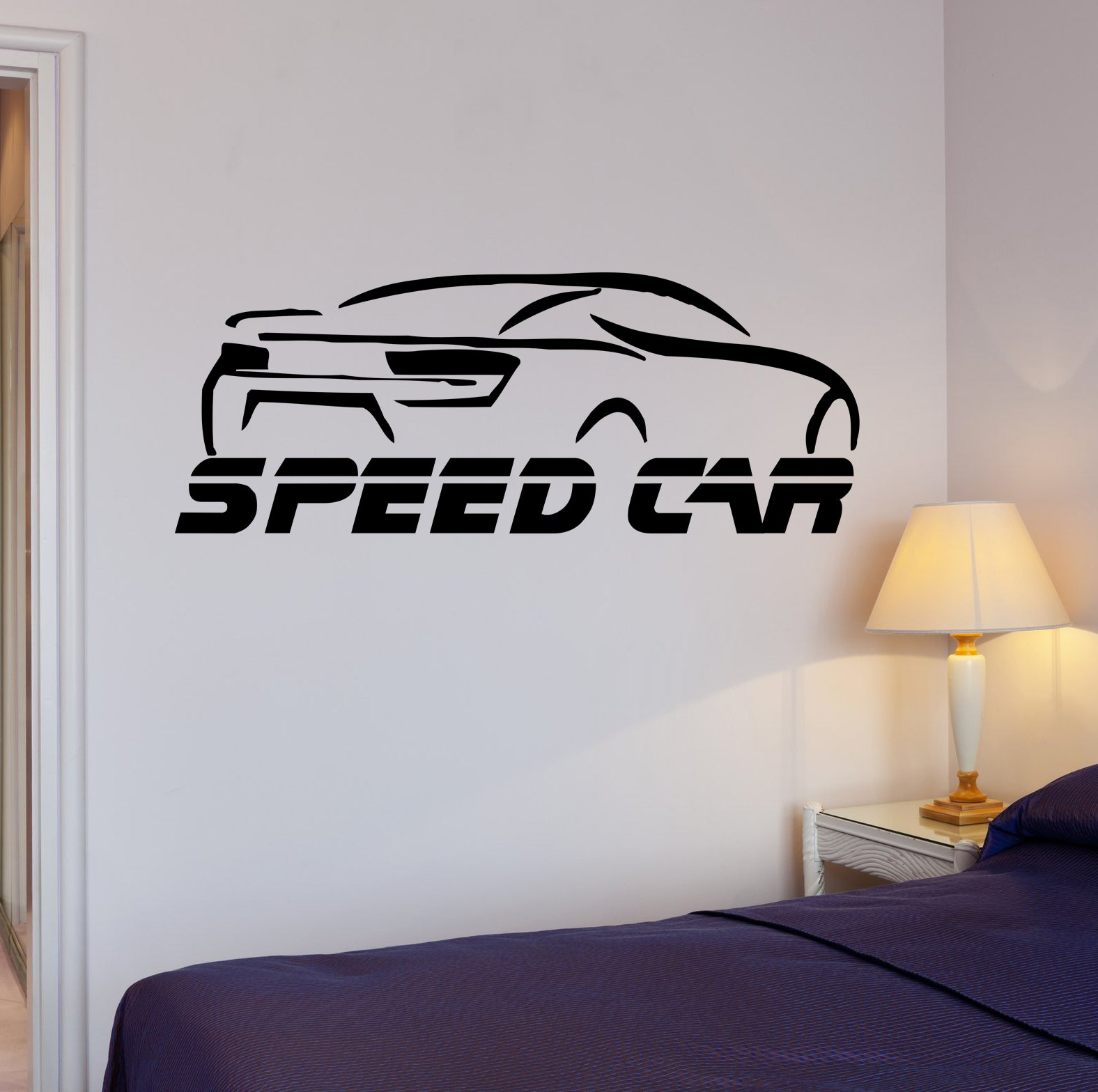 Wall Decal Speed Car Race Garage Auto Word Vinyl Sticker (ed1507)