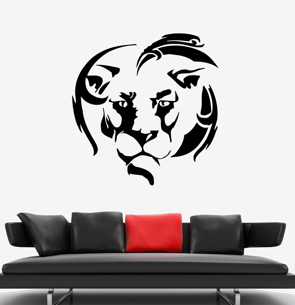 Wall Decal Lion Head King Animal Africa Mane Vinyl Sticker (ed1665)