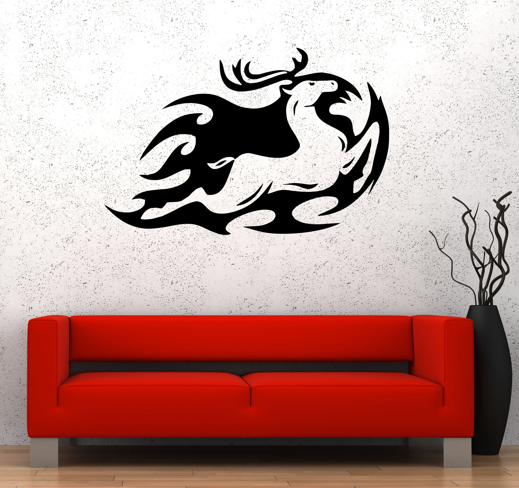 Wall Decal Deer Doe Animal Forest Nature Moose Vinyl Sticker (ed1668)