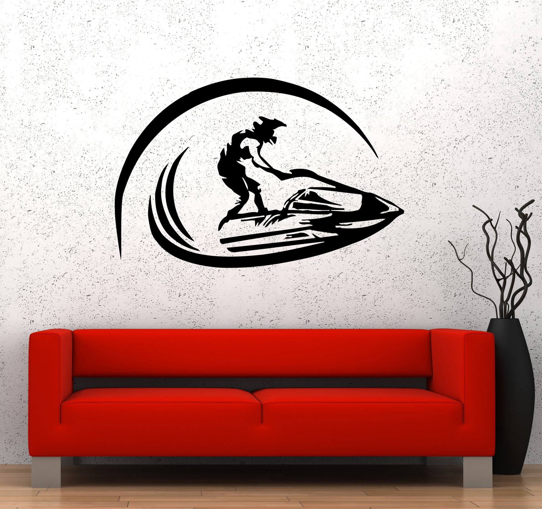 Wall Decal Jet Ski Extreme Sports Water Race Speed Vinyl Sticker (ed1678)