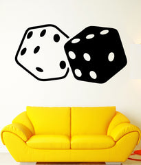 Wall Decal Cubes Dice Gambling Luck Casino Mural Vinyl Decal Unique Gift (ed323)