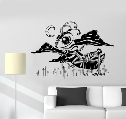 Child Room Animal Nature Funny Monster Tale Wall Vinyl Decal Sticker Unique Gift (ed470)