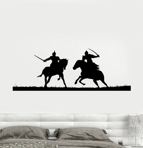 Decal Wall Vinyl Sticker Knights Duel Vikings Warriors Middle Ages (ed537)