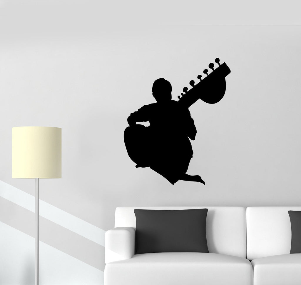 Vinyl Decal Music Guitar Guitarist Musical Instrument Decor Wall Sticker Unique Gift (ed560)