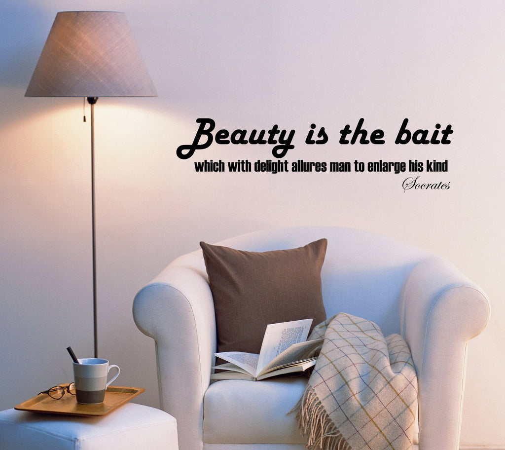 Wall Decal Quotes Beauty Letters Wise Famous Vinyl Sticker Ed825