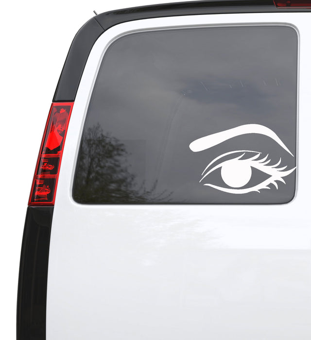"Auto Car Sticker Decal Female Woman Eye Make Up Truck Laptop Window 7.8"" by 5"" Unique Gift z588c"