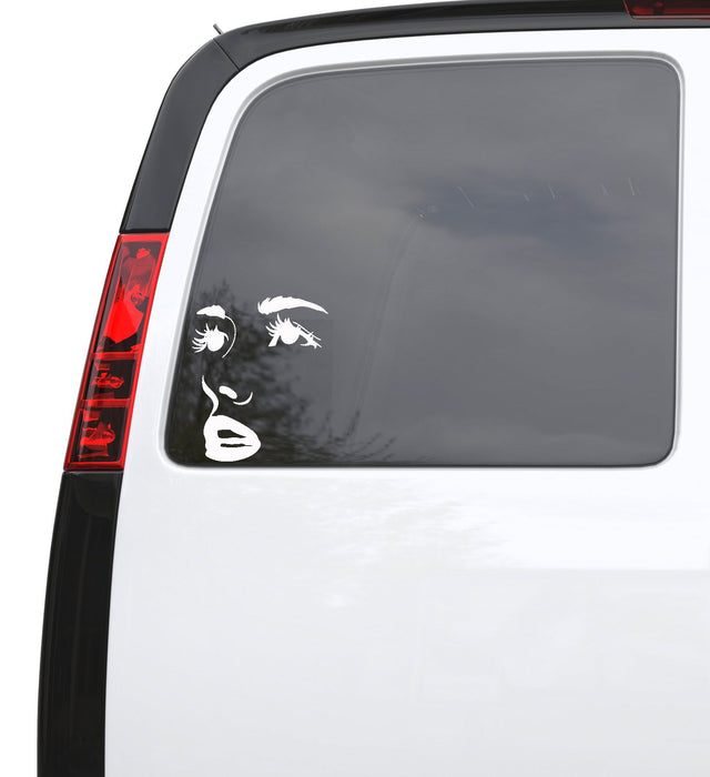 "Auto Car Sticker Decal Female Sexy Face Woman Truck Laptop Window 5"" by 6.2"" Unique Gift m575c"