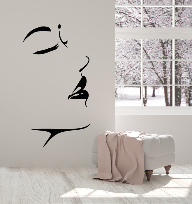 Vinyl Wall Decal Abstract Female Face Makeup Beauty Studio Stickers Mural (g2835)