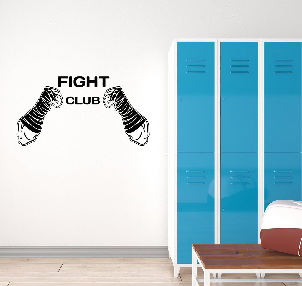Vinyl wall decal fight club mma fighting martial arts sports interior wallstickers4you