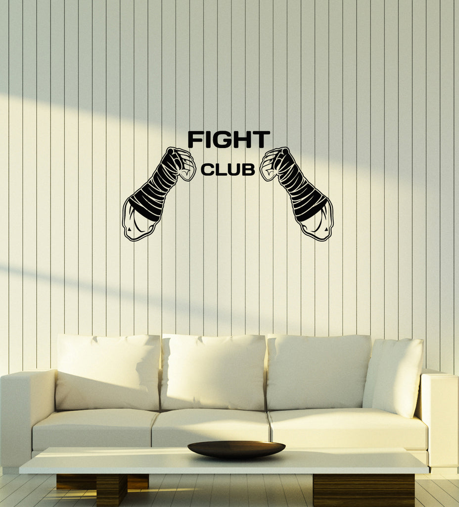 Vinyl wall decal fight club mma fighting martial arts sports interior stickers mural ig5981