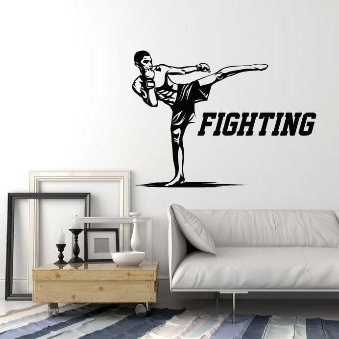 Details about  /Vinyl Wall Decal Fighting MMA Fighter Martial Arts Fight Club Stickers ig5518