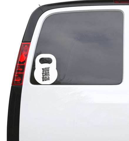 "Auto Car Sticker Decal Kettlebell Gym Quote Fitness Truck Laptop Window 5"" by 6.5"" Unique Gift ig4520c"