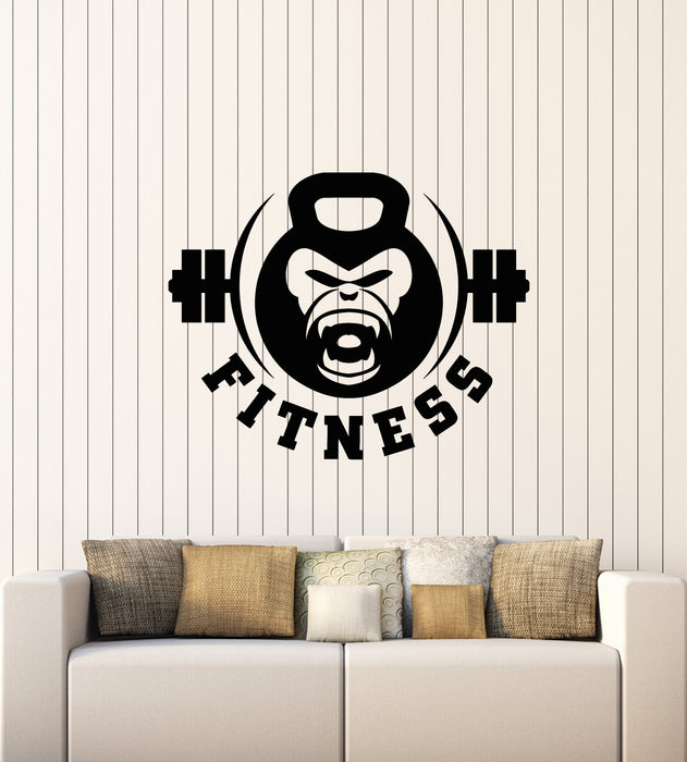 Vinyl Wall Decal Gym Fitness Club Iron Strength Bodybuilding Sport Stickers Mural (g2994)