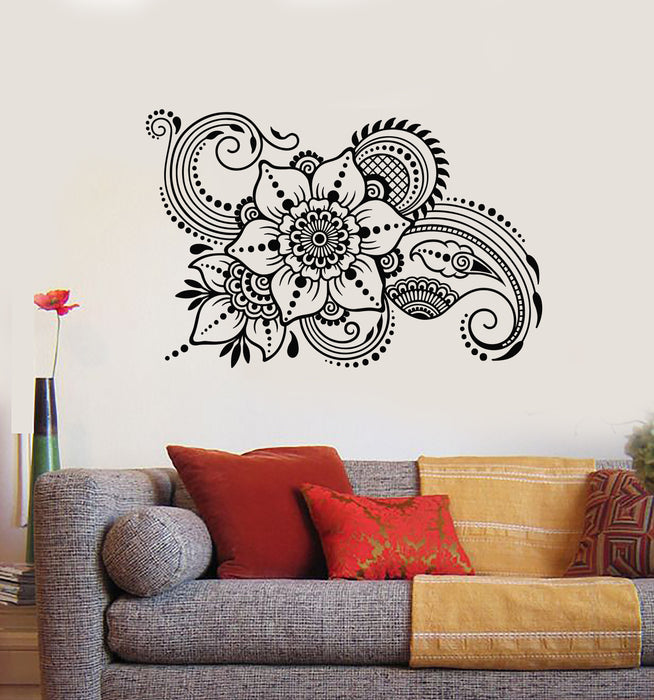 Vinyl Wall Decal Abstract Flowers Bouquet Floral Nature Garden Stickers Mural (g871)
