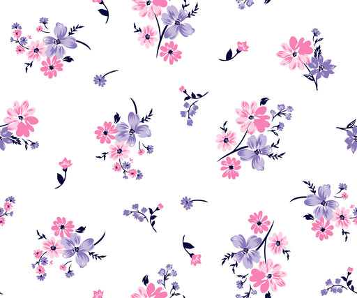 Wallpaper Reusable Removable Floral Pink And White Accent Wall Interior Bedroom z003