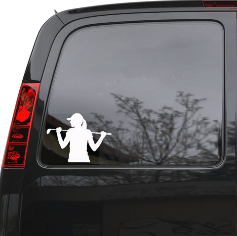 "Auto Car Sticker Decal Golfer Golf Player Gir Woman Sport Truck Laptop Window 6.7"" by 5"" Unique Gift ig4851c"
