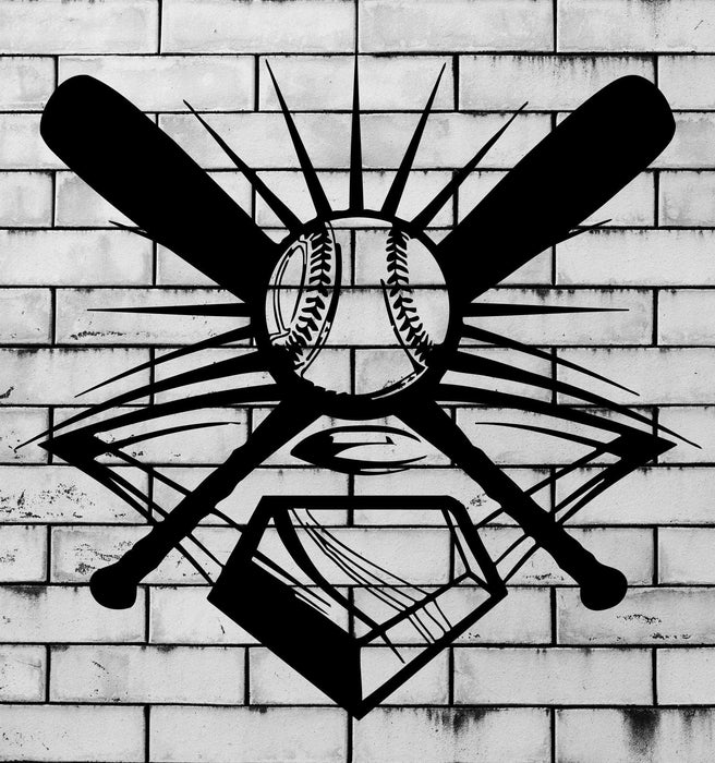 Vinyl Decal Baseball Sport Decor for Men Sports Fan Garage Mural Wall Stickers Unique Gift (i014)