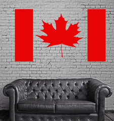 Vinyl Decal Canada Flag Maple Leaf Canadian Room Art Wall Stickers Unique Gift (ig005)