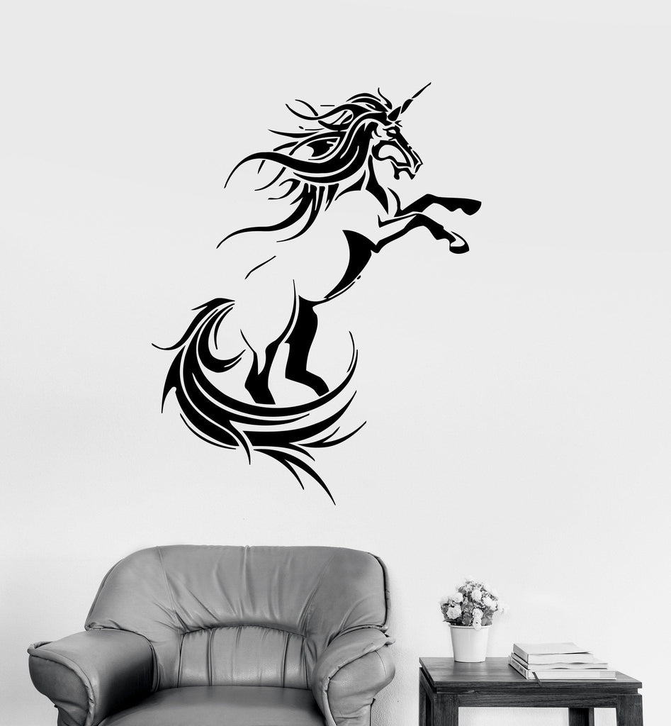 Vinyl Decal Unicorn Fantasy Myth Children's Decor Kids Room Wall Stickers Unique Gift (ig007)