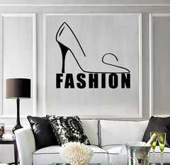 Vinyl Decal Fashion Style Shoes Woman Girl Room Wall Sticker Mural Unique Gift (ig073)