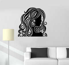 Vinyl Decal Beauty Salon Woman Hair Salon Barbershop Stylist Wall Stickers Unique Gift (ig078)