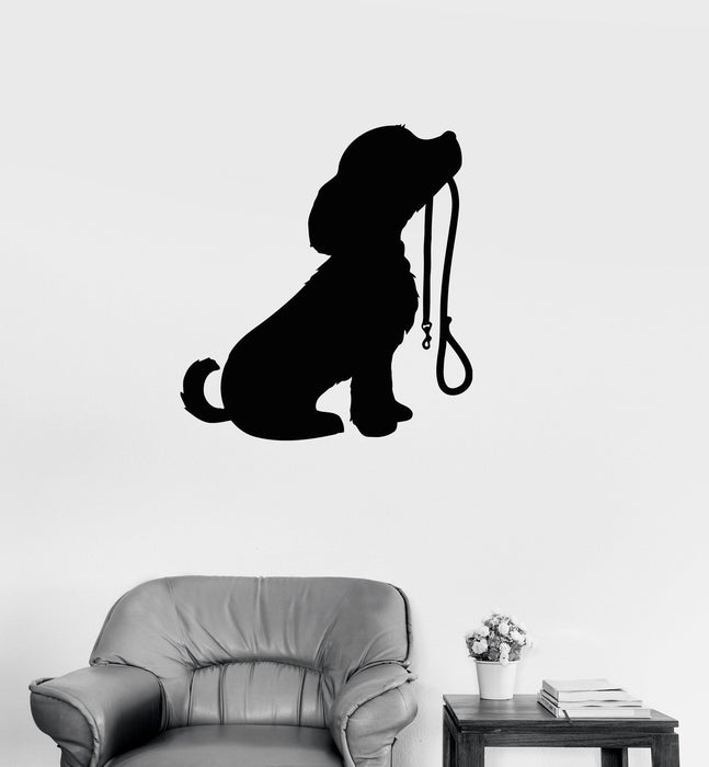 Vinyl Decal Cute Puppy Dog Animal Kids Room Baby Wall Sticker Mural Unique Gift (ig101)