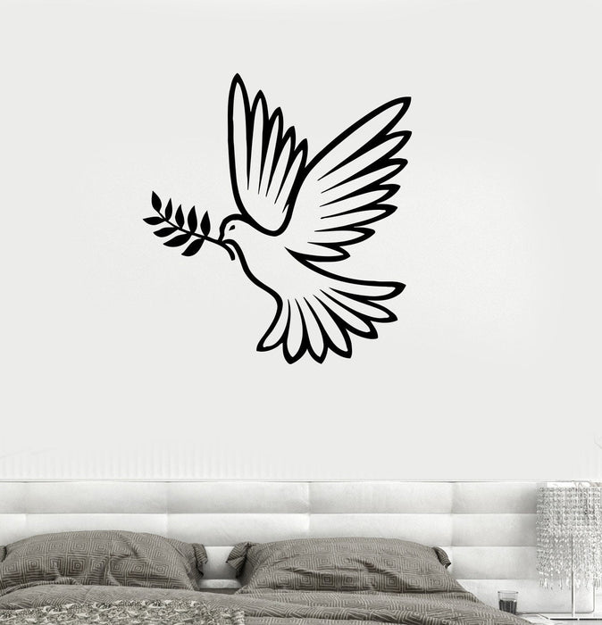 Vinyl Decal Dove of Peace Pacifism Bird Living Room Decor Wall Sticker Mural Unique Gift (ig115)