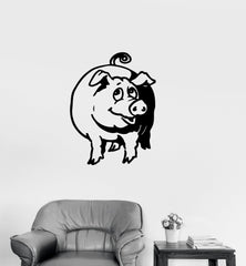 Vinyl Decal Cute Pig Piggy Animal Farm Kids Room Wall Stickers Mural Unique Gift (ig121)