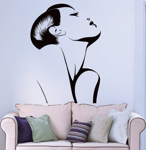 Wall Sticker Vinyl Decal Fashion Hot Sexy Girl Woman Barber Salon Spa (ig1276)