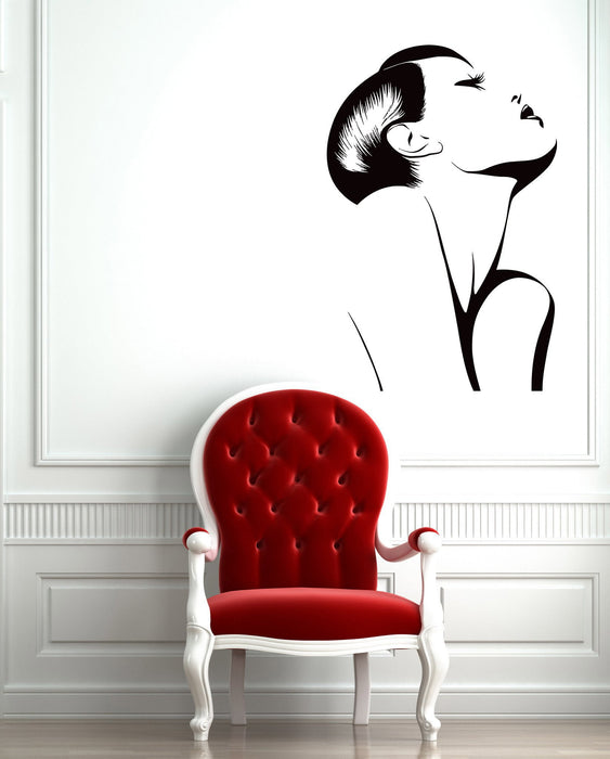 Wall Sticker Vinyl Decal Fashion Hot Sexy Girl Woman Barber Salon Spa Unique Gift (ig1276)