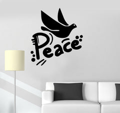 Vinyl Decal Dove of Peace Pacifism Kindness Children's Room Wall Stickers Unique Gift (ig142)