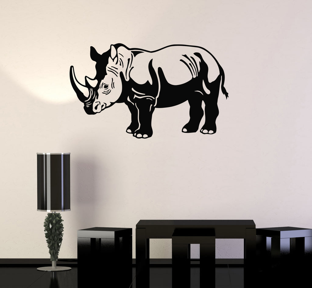 Vinyl Decal Rhino Animal Zoo Children Room Decor Wall Stickers Unique Gift (ig144)