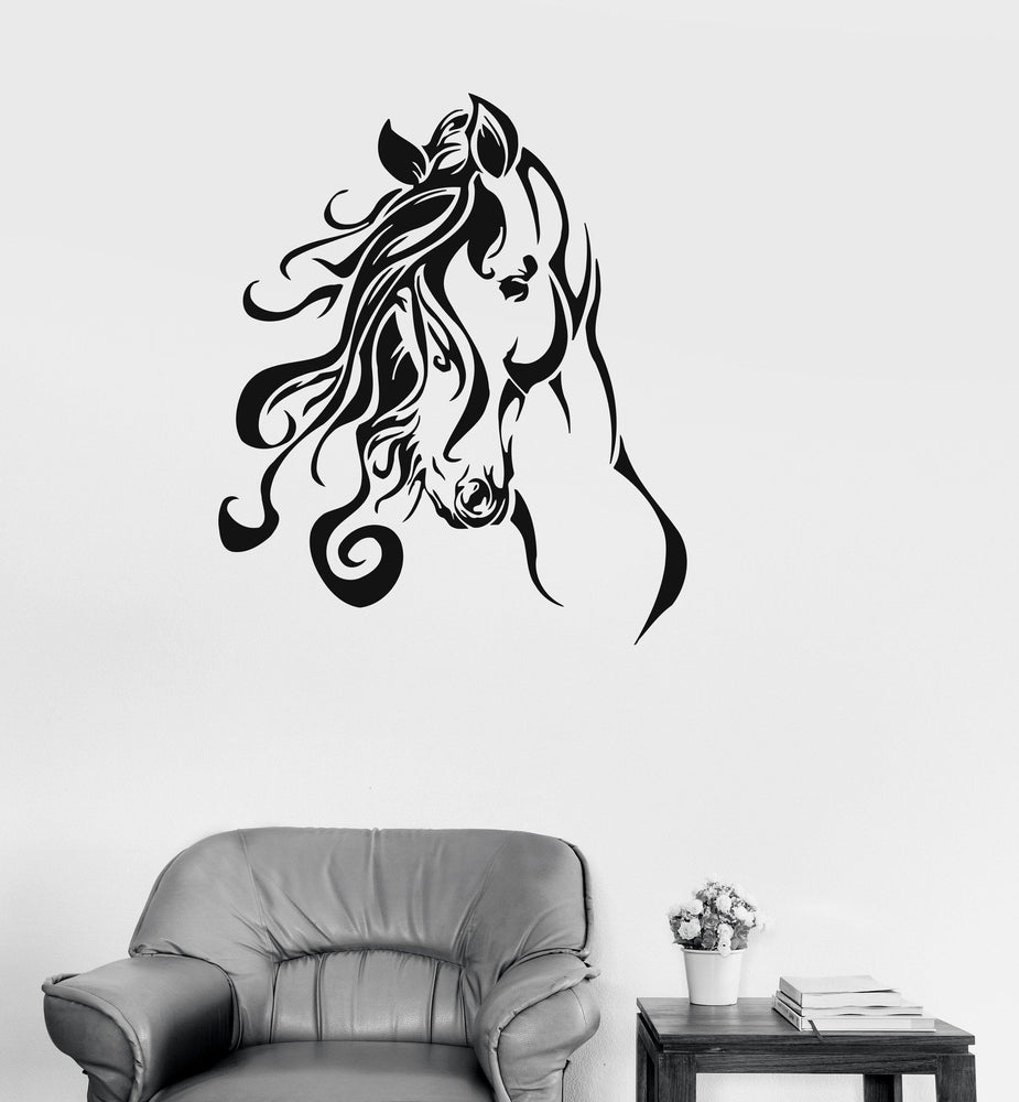 Vinyl Decal Horse Beautiful Animals Living Room Decor Wall Stickers Unique Gift (ig148)