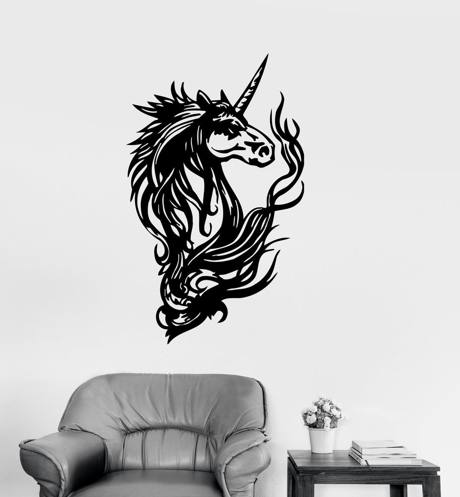 Vinyl Decal Unicorn Fantasy Myth Kids Girl Room Wall Stickers Unique Gift (ig158)
