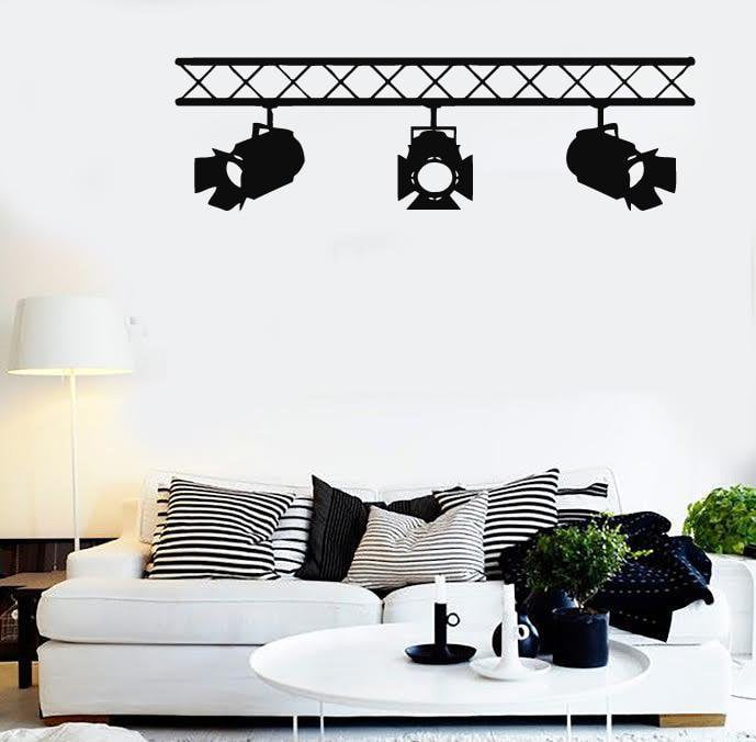 Wall stickers vinyl decal spotlights cinema cinematography decor film unique gift ig1607