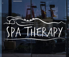 Window Graphics and Wall Stickers Vinyl Decal Spa Therapy Massage Beauty Salon (ig1707w)