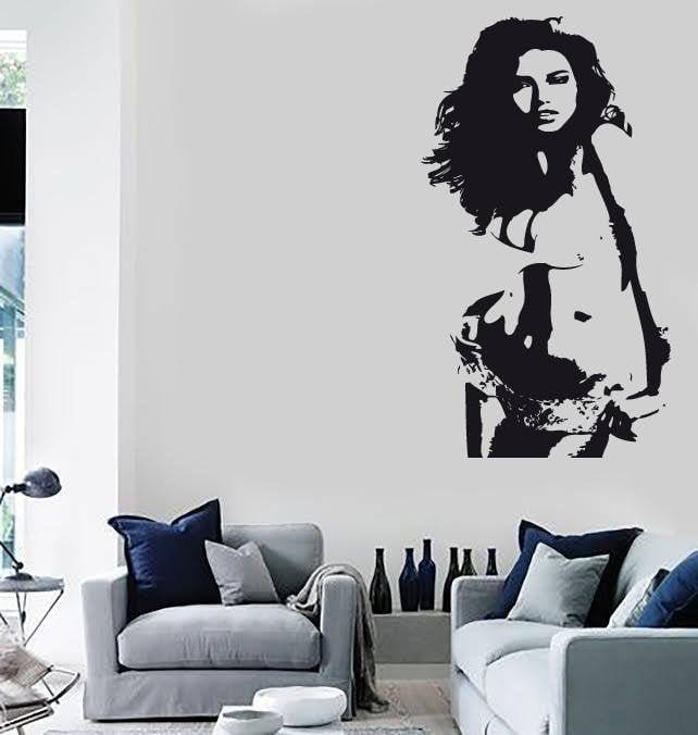 Wall Stickers Vinyl Decal Sexy Girl Silhouette Beautiful Women (ig1712)