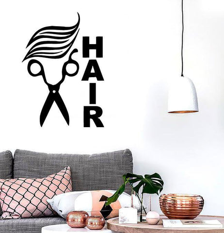 Wall Stickers Vinyl Decal Scissors Hair Hairdresser Sign Barbershop  (ig1720)