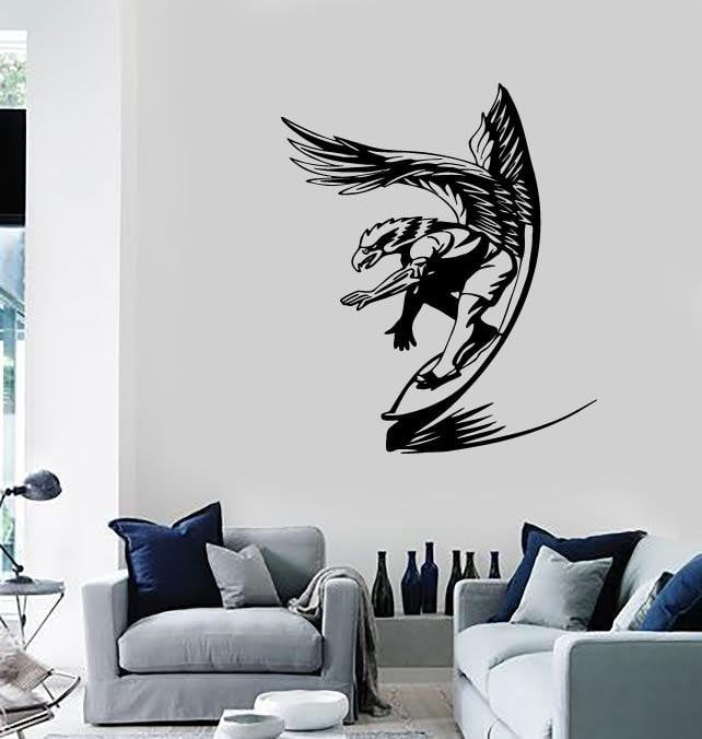 Wall Stickers Vinyl Decal Surfing Water Extreme Sports Unique Gift (ig1755)