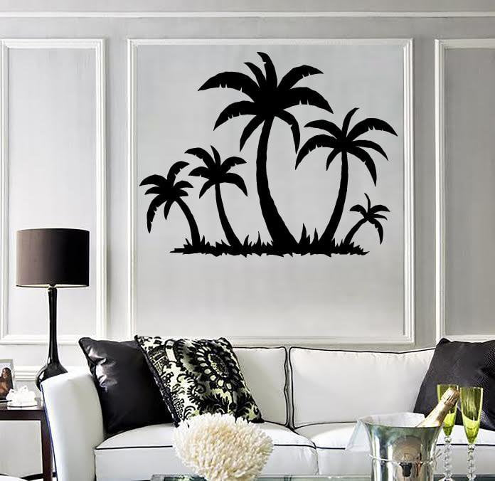 Wall Sticker Vinyl Decal Tropical Palm Tree Beach Relax Decor (ig1769) Part 50