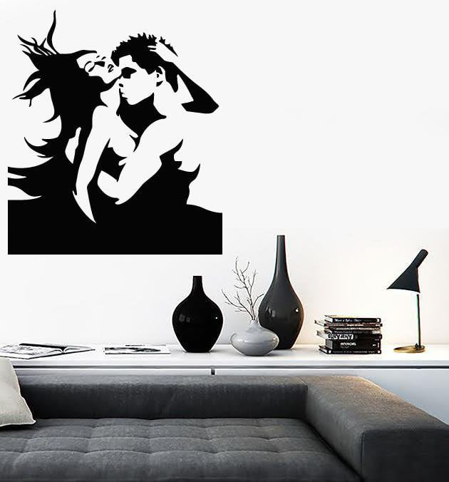 Vinyl Decal Couple Love Romantic Bedroom Sexy Room Decor Wall Stickers Unique Gift (ig178)